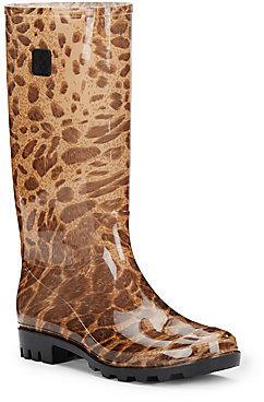 d1c5a9844a94 Tall Leopard Print Jelly Rain Boots, $79 | Off 5th | Lookastic.com
