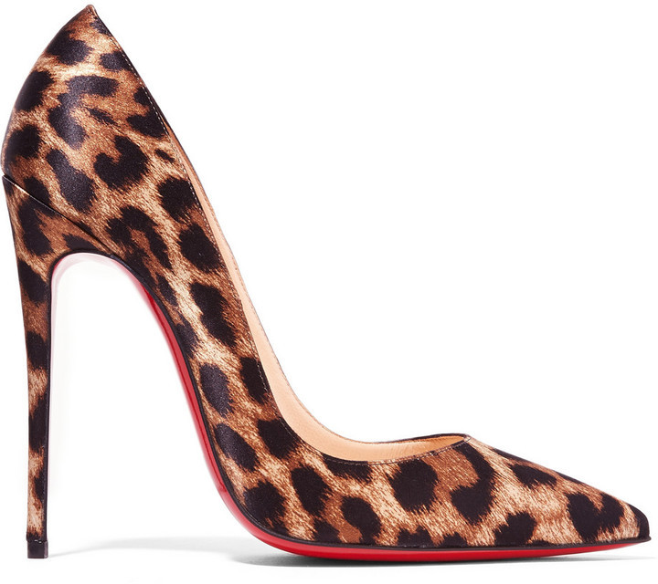 afc62679c99 $695, Christian Louboutin Christian Louboutin - So Kate 120 Leopard-print  Satin Pumps - Leopard print
