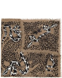 Alexander McQueen Leopard And Snake Fight Scarf