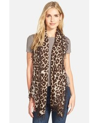 Animal print wool scarf medium 420874