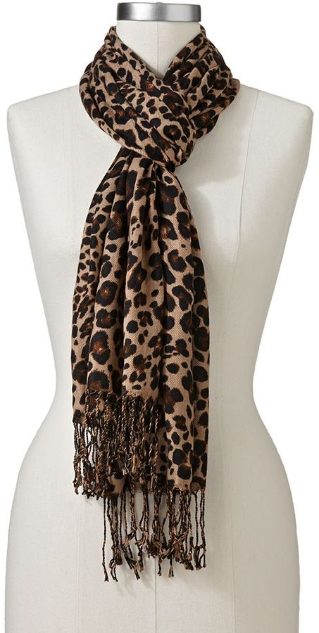 apt 9 leopard pashmina scarf where to buy how to wear