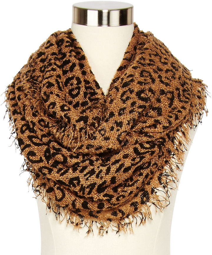 jcpenney Boucle Animal Print Infinity Scarf