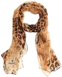 Brooks Brothers Leopard Silk Chiffon Oblong