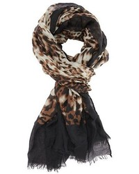 Charlotte Russe Leopard Print Border Scarf
