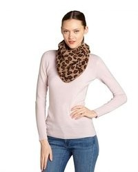 Portolano Heather Copper Cashmere Leopard Snood