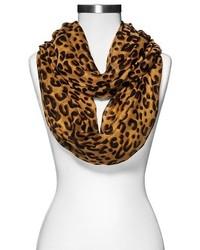 Merona Leopard Print Infinity Scarf Brown