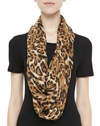 Karen Zambos Leopard Print Infinity Scarf