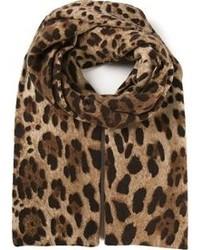 Dolce & Gabbana Leopard Printed Scarf