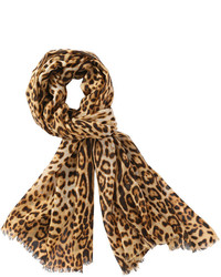 Joe Fresh Leopard Scarf Brown
