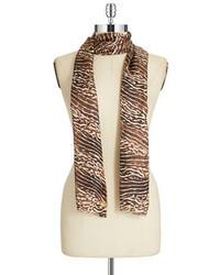 Calvin Klein Leopard Silk Scarf