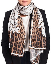 Roberto Cavalli Leopard Silk Scarf