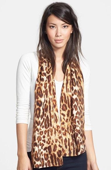 Echo Leopard Silk Scarf