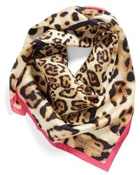Vince Camuto Seeing Spots Leopard Print Silk Scarf