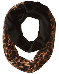 Sofia Cashmere Animal Print Color Block Infinity Scarf