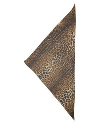 Saint Laurent Ysl Leopard Print Triangle Scarf