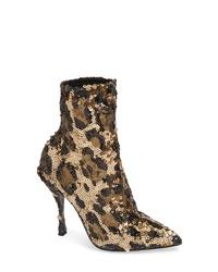 Dolce & Gabbana Leopard Sequin Bootie
