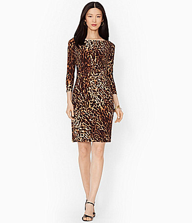 Lauren Ralph Leopard Print Sheath Dress
