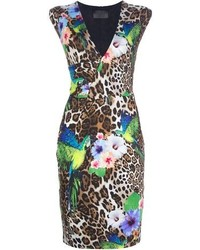 Philipp Plein Leopard Print Fitted Dress