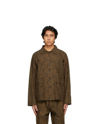 South2 West8 Beige Leopard Hunting Shirt