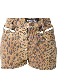 Jeremy scott cut out leopard print shorts medium 239850