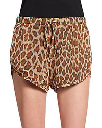 Rory Beca Leopard Print Shorts