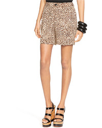 Lauren Ralph Lauren Pleated Leopard Print Shorts