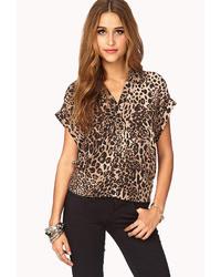 b0d45c5831fa19 Brown Leopard Silk Shirts for Women | Women's Fashion | Lookastic.com