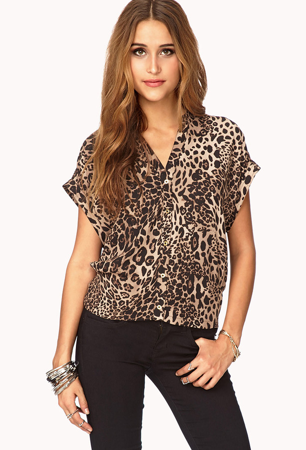 Forever 21 Essential Leopard Print Top Where To Buy