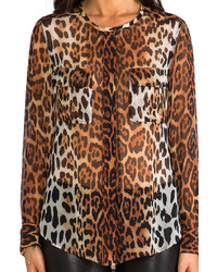 cdd885a9118276 ... Silk Shirts Equipment Lynn Contrast Magic Leopard Blouse Equipment Lynn  Contrast Magic Leopard Blouse ...