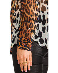 dd40d4990dd5f7 Equipment Lynn Contrast Magic Leopard Blouse, $248 | Revolve ...