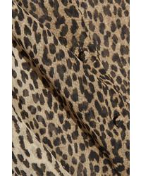 1093cf95d7dce ... Saint Laurent Pussy Bow Leopard Print Silk Georgette Shirt Leopard Print  ...