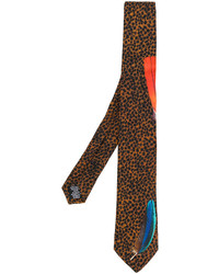 Paul Smith Leopard Embroidered Tie