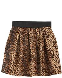 ChicNova Elastic Waist Leopard Print Skirt