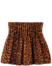 ChicNova Vintage Leopard High Waist Bubble Skirt