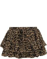 Wendy leopard print silk mini skirt medium 175883