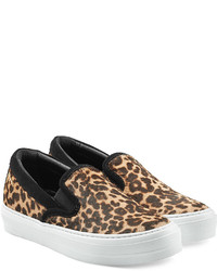 Leopard printed slip on sneakers medium 420933