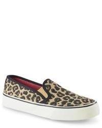 Twinnie brownleopard print slip on shoe medium 85203