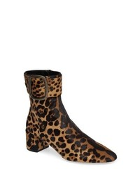 Saint Laurent Leopard Genuine Calf Hair Bootie