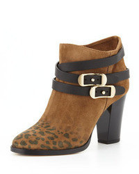 Melba leopard print suede ankle boot medium 34669