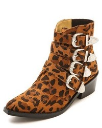 Toga pulla buckled leopard ankle boots medium 136818