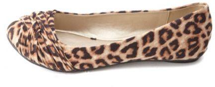 ab2494762d18bc Charlotte Russe Crisscrossing Ruched Leopard Print Ballet Flats, $22 ...