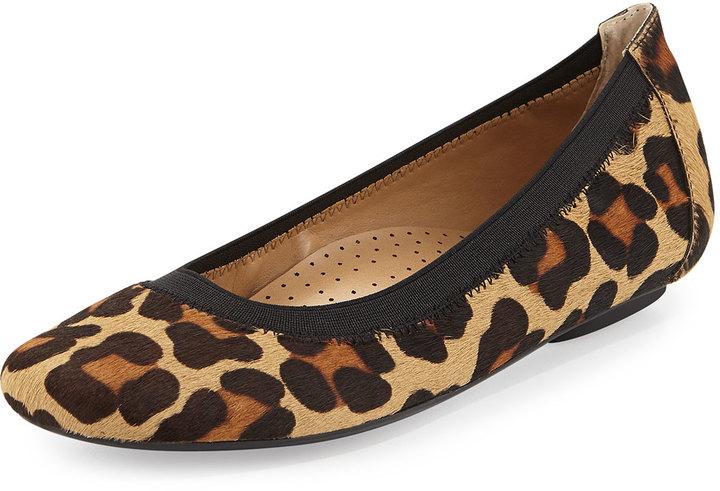 Neiman Marcus Spike Leopard Print Calf