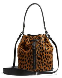 Accessories leopard haircalf cynnie mini bucket medium 200004
