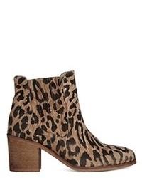 Ganni veronica meow leopard chelsea ankle boots leopard medium 90427