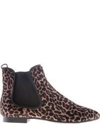 premium selection babd4 023d6 Women's Brown Leopard Suede Chelsea Boots by Pretty ...