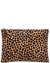Clare v oversize clutch in brown medium 210124
