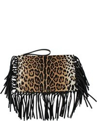 Valentino Rockee Clutch With Fringe