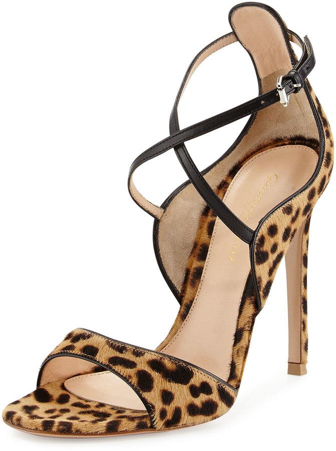Gianvito Rossi Animal Print Calf Hair Sandal Leopardblack   Where to ... ed54a2c0d2
