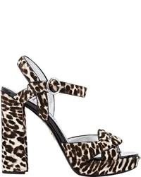 Prada Suede Platform Sandals Brown Size 105