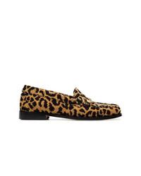 Leopard print fabric flat loafers medium 8124783